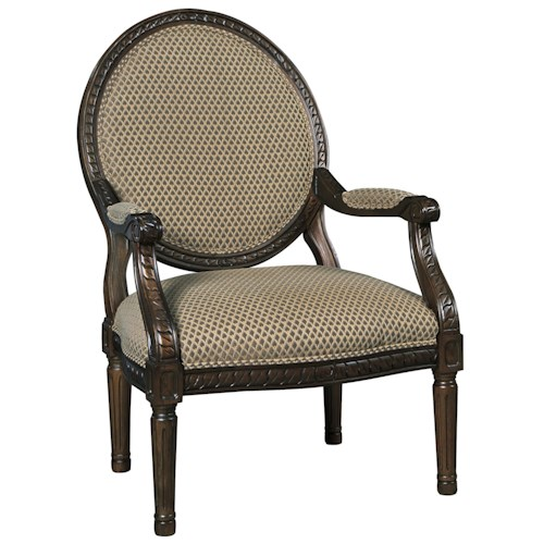 Signature Design by Ashley Irwindale Round Back Exposed Wood Frame Accent Chair