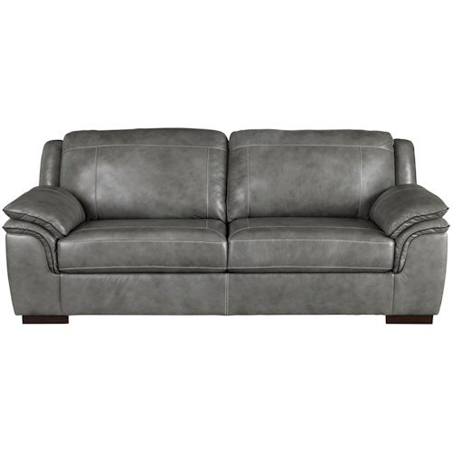 Signature Design by Ashley Islebrook Contemporary Leather Match Sofa