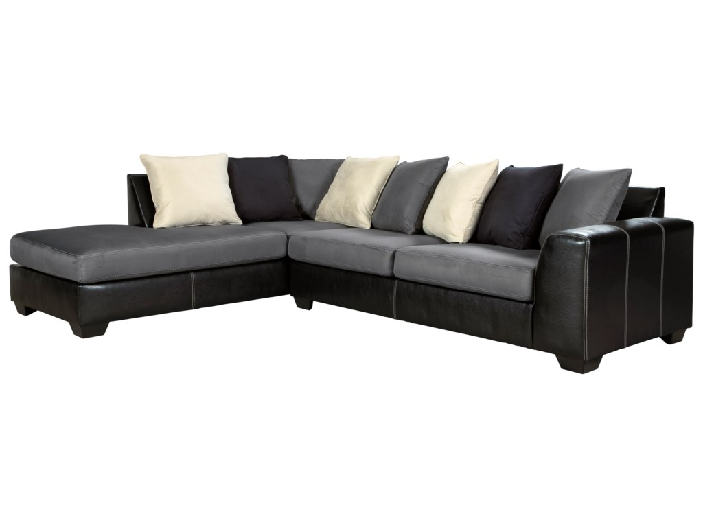 Jacurso Contemporary Sectional Sofa with Chaise by Signature Design by  Ashley at Furniture and ApplianceMart