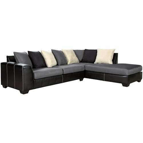 Signature Design by Ashley Jacurso Contemporary Sectional Sofa with Chaise