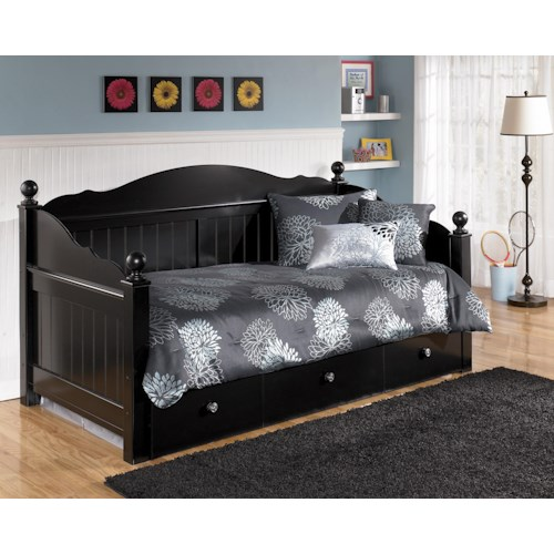 Signature Design By Ashley Jaidyn Day Bed With Trundle Panel Turk Furniture Daybed Joliet