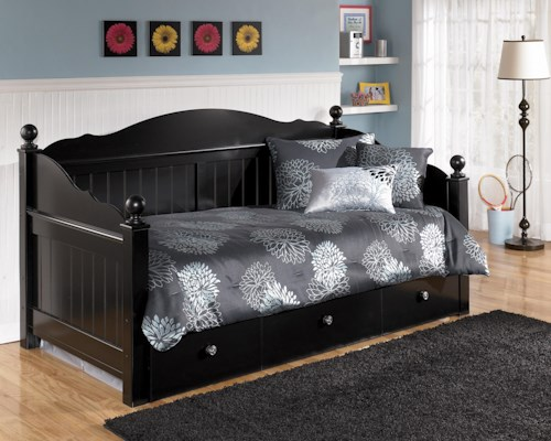 StyleLine Jaidyn Day Bed with Trundle Panel | EFO Furniture Outlet ...