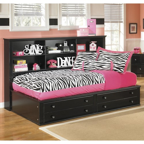 Signature Design by Ashley Jaidyn Twin Bookcase Bed with Footboard Storage