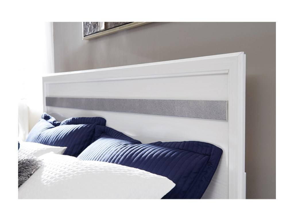 Signature Design by Ashley JalloryKing Panel Bed with Footboard Storage