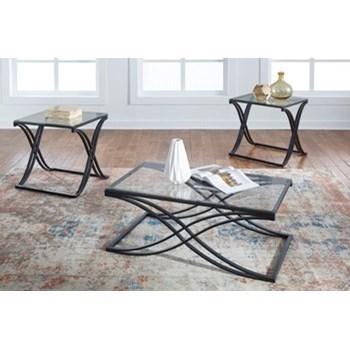 Jandor Contemporary 3-Piece Occasional Table Set with Glass Table Tops by Signature Design by Ashley  sc 1 st  Furniture and ApplianceMart & Signature Design by Ashley Jandor T374-13 Contemporary 3-Piece ...