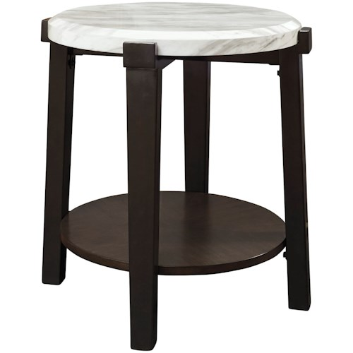 Signature Design by Ashley Janilly Contemporary Round End Table