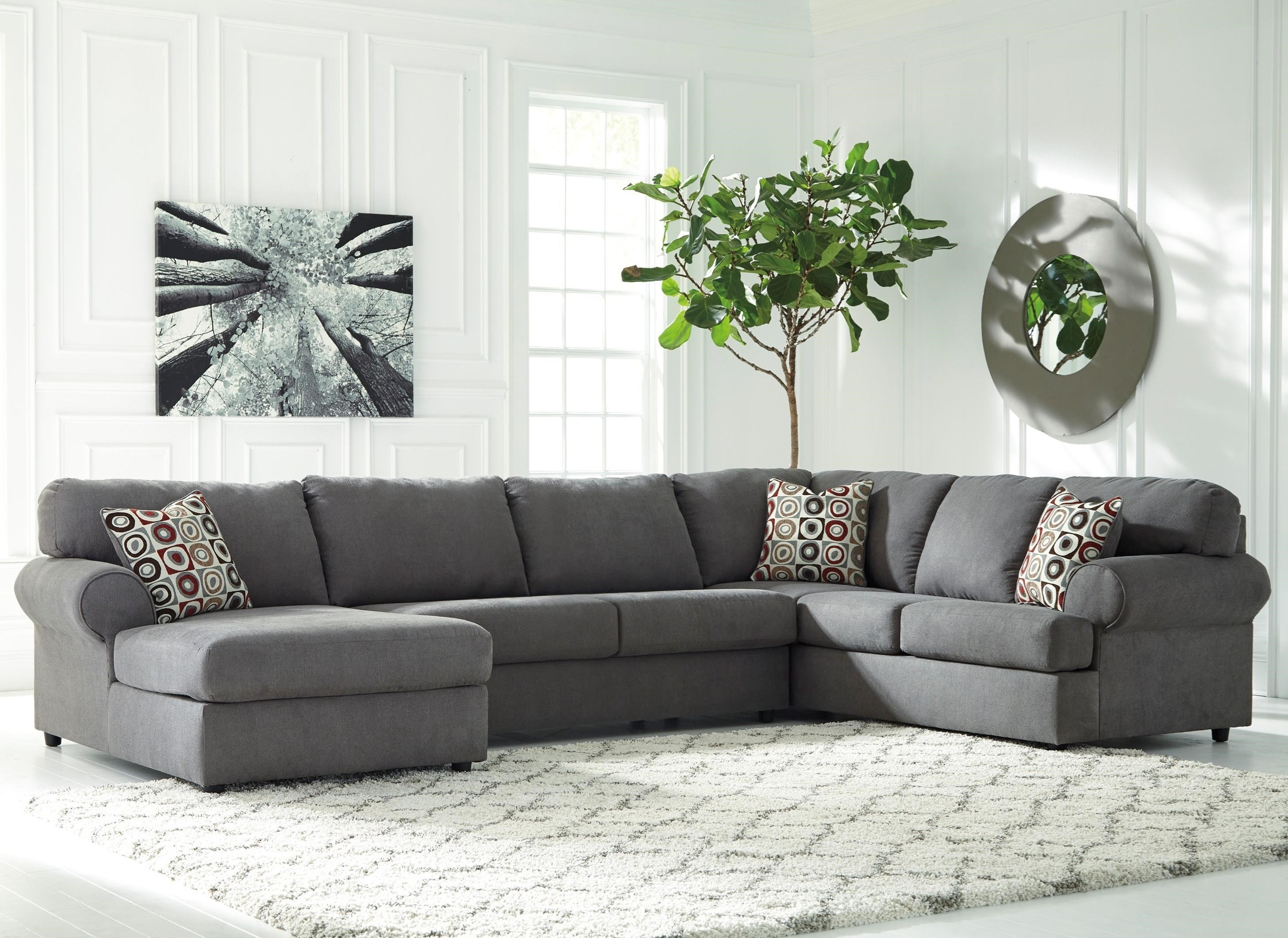 Signature Design by Ashley Jayceon 3-Piece Sectional with Left Chaise  sc 1 st  Value City Furniture : value city sectional - Sectionals, Sofas & Couches
