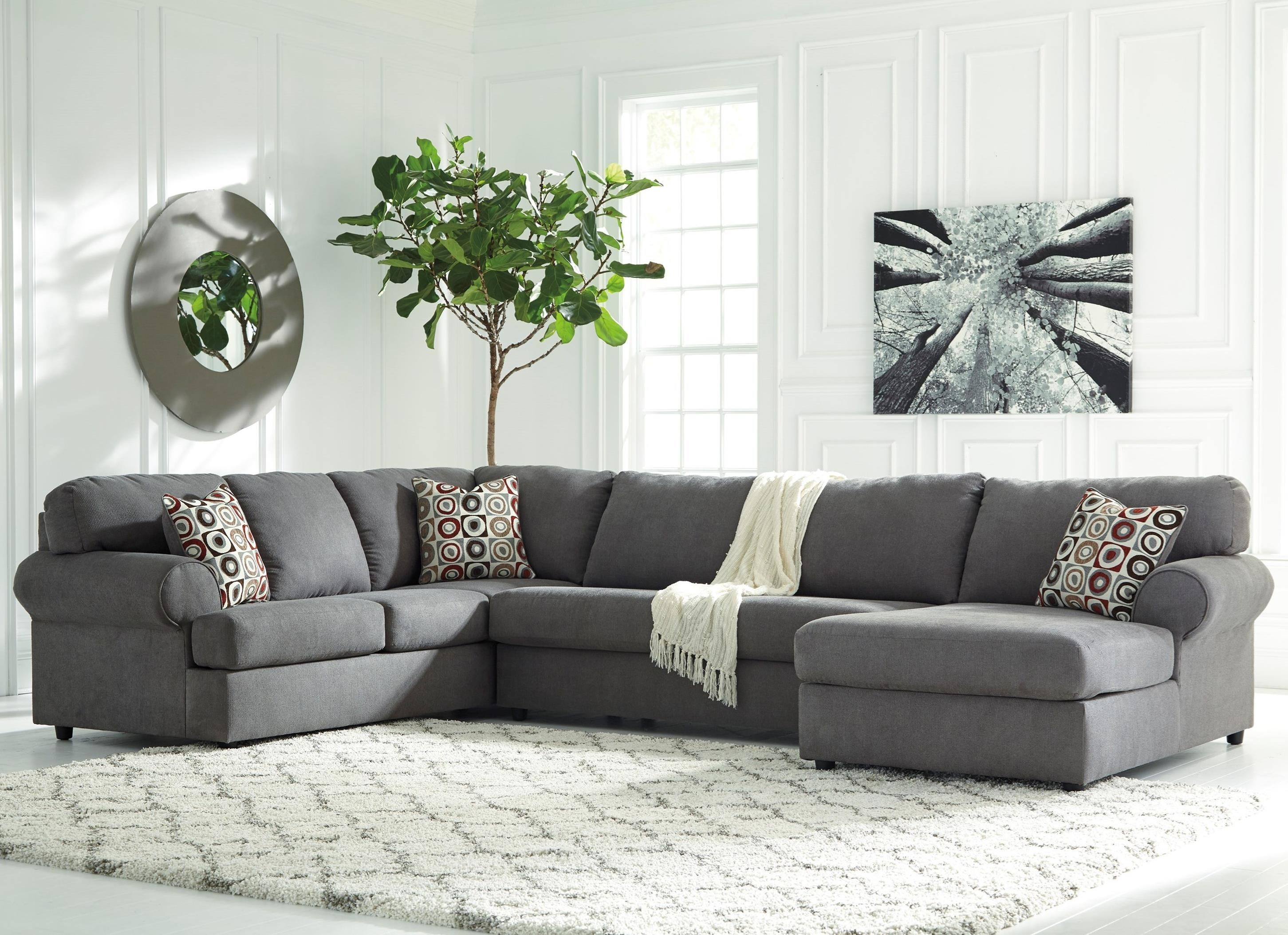 Marvelous Signature Design By Ashley Jayceon 3 Piece Sectional With Right Chaise