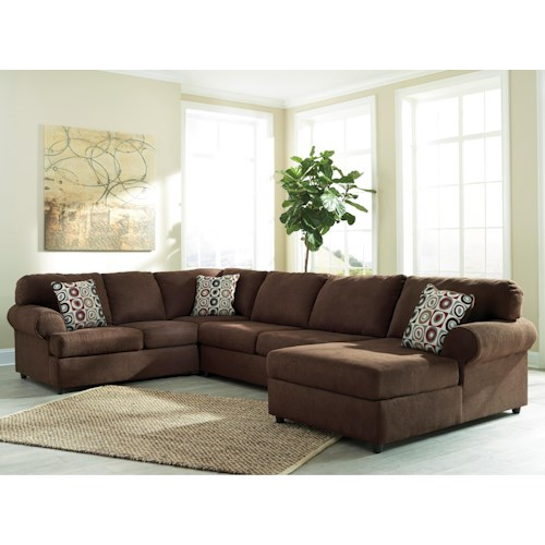 Signature design by ashley jayceon 3 piece sectional with for Furniture 500 companies