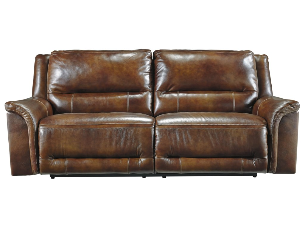 Signature Design by Ashley Jayron Contemporary Leather Match 2 Seat ...