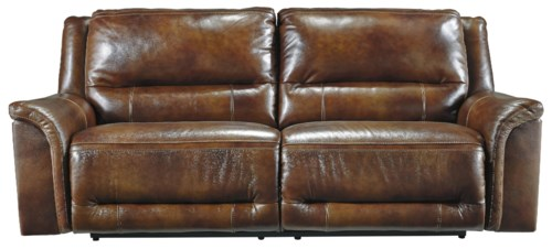 Signature Design By Ashley Jayron Contemporary Leather Match 2 Seat