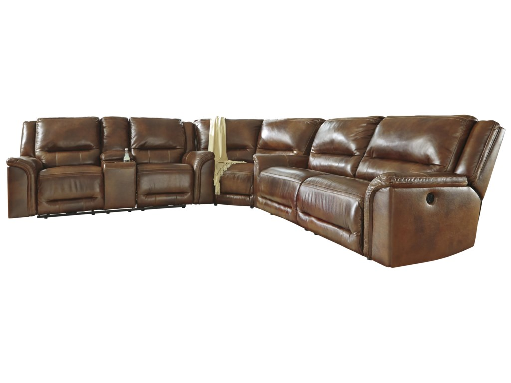 Signature Design by Ashley JayronReclining Sectional with Wedge