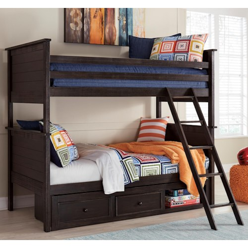 Signature Design by Ashley Jaysom Twin/Twin Bunk Bed with Under Bed Storage