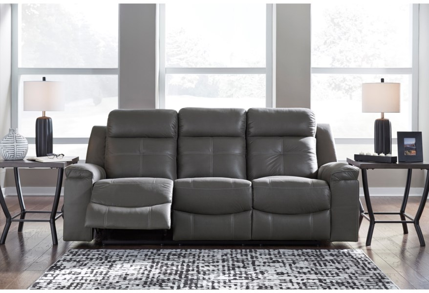 Jesolo Contemporary Reclining Sofa by Signature Design by Ashley at  Furniture and ApplianceMart