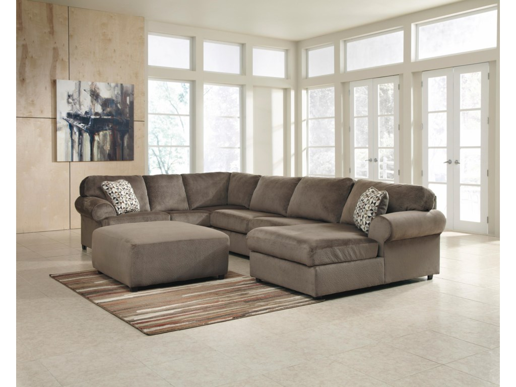 Signature Design by Ashley Jessa Place - DuneStationary Living Room Group