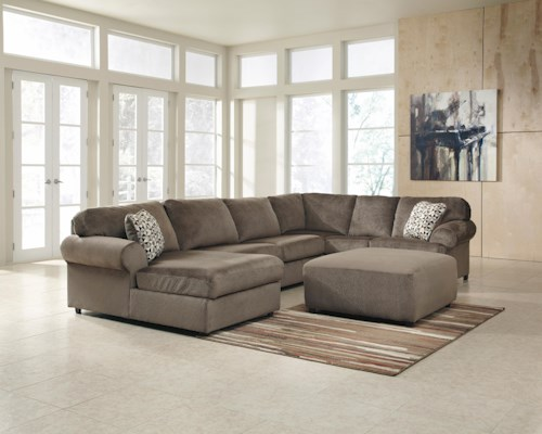 Signature Design by Ashley Jessa Place - Dune Stationary Living Room Group