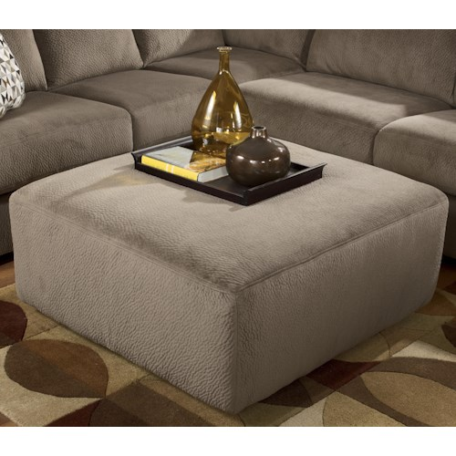 Signature Design by Ashley Jessa Place - Dune Casual and Contemporary Oversized Accent Ottoman