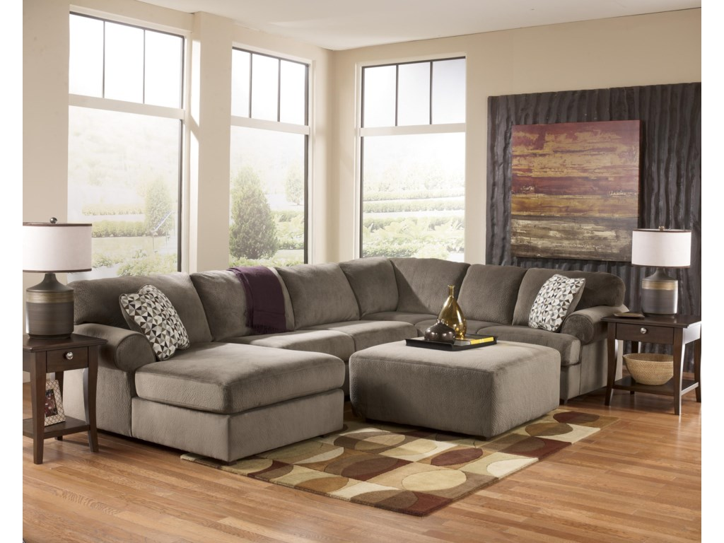 Rooms Collection Three Jessa Place - DuneOversized Accent Ottoman