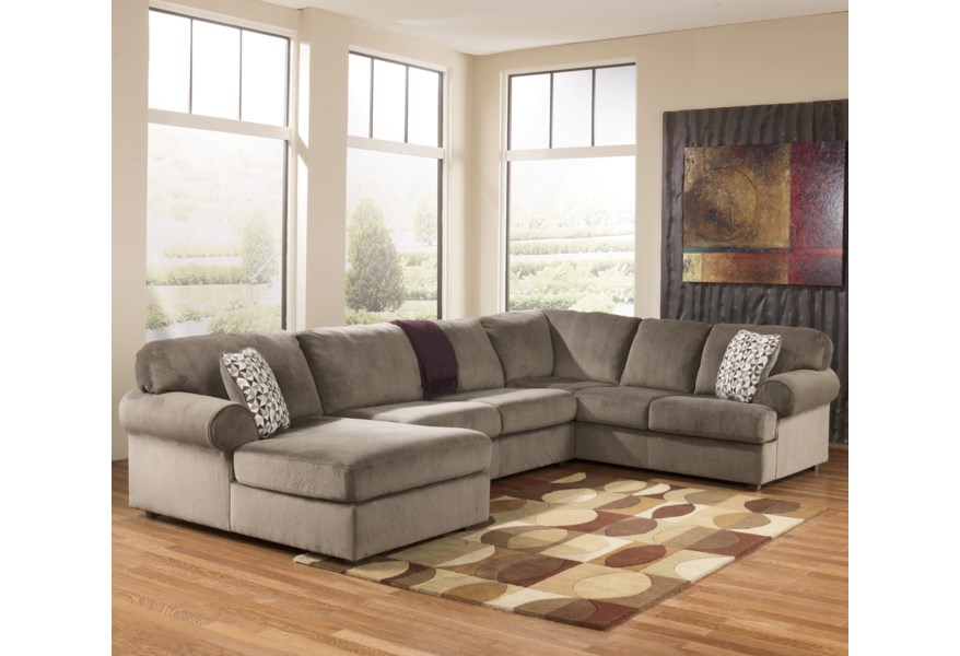 Jessa Place - Dune Casual Sectional Sofa with Left Chaise by Signature  Design by Ashley at Coconis Furniture & Mattress 1st