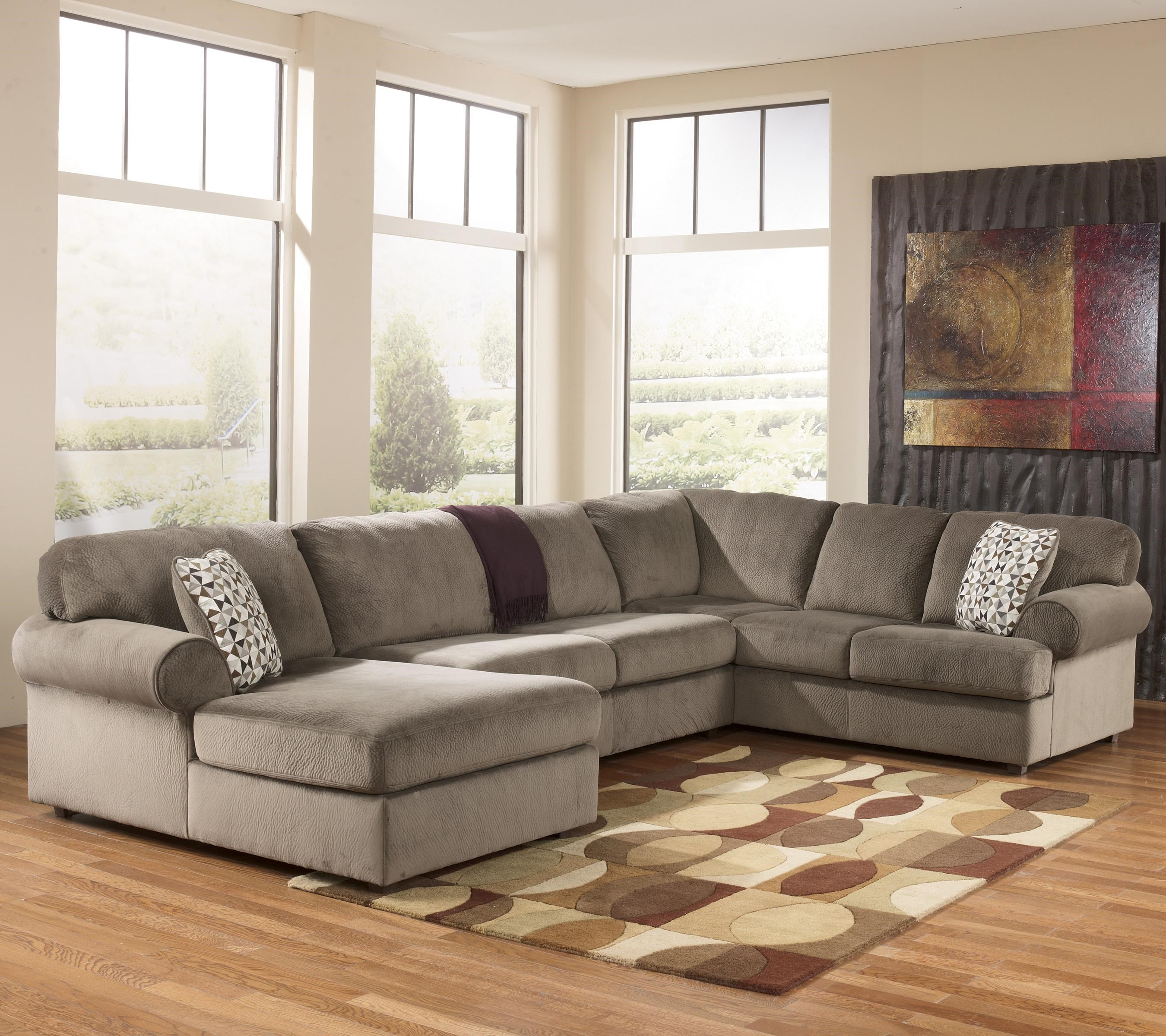 Charming Signature Design By Ashley Jessa Place   Dune Casual Sectional Sofa With  Left Chaise