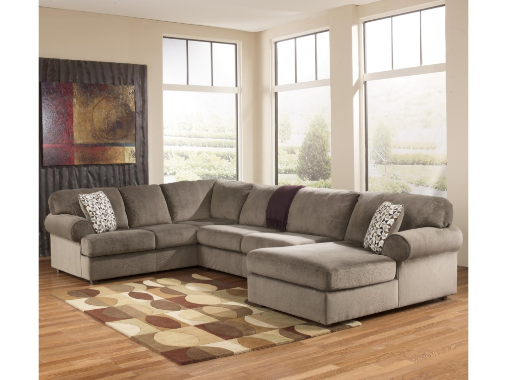 Ashley Signature Design Jessa Place Dunesectional Sofa With Right Chaise
