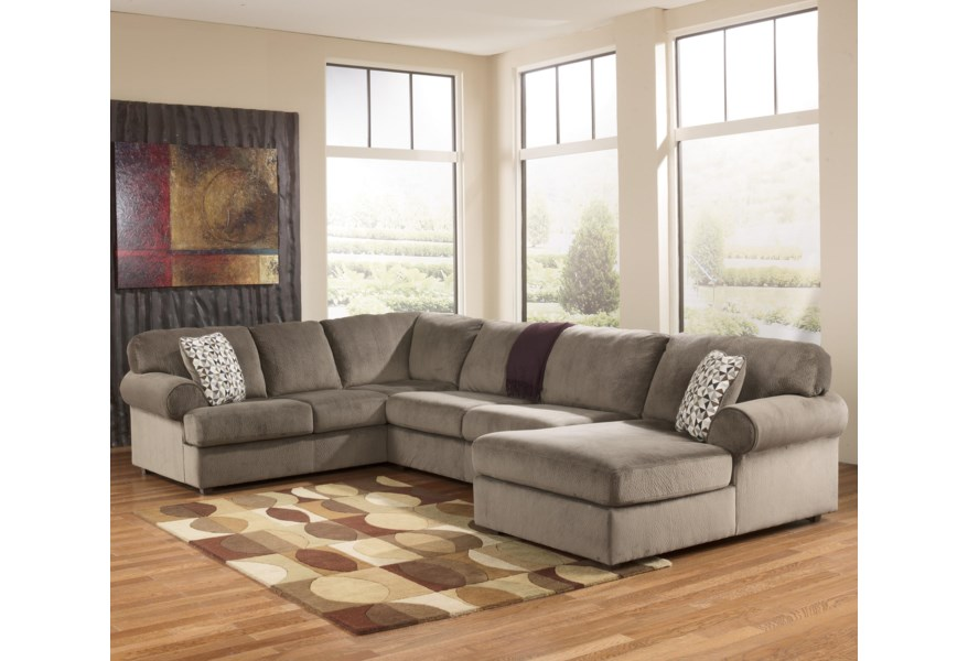 Jessa Place - Dune Sectional Sofa with Right Chaise