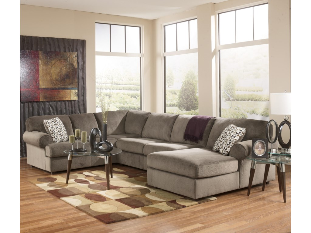Signature Design by Ashley Jessa Place - DuneSectional Sofa with Right Chaise