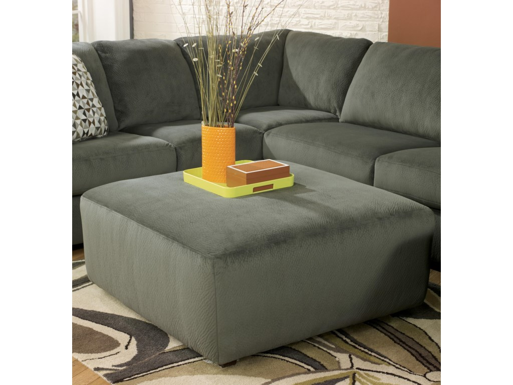 Signature Design by Ashley Jessa Place - PewterOversized Accent Ottoman