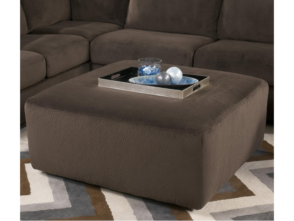 Signature Design by Ashley Jessa Place  - ChocolateOversized Accent Ottoman