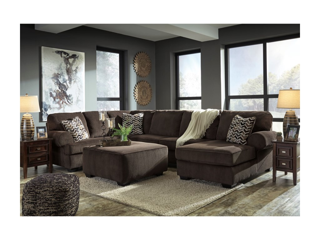 Signature Design by Ashley Jinllingsly Stationary Living Room Group ...