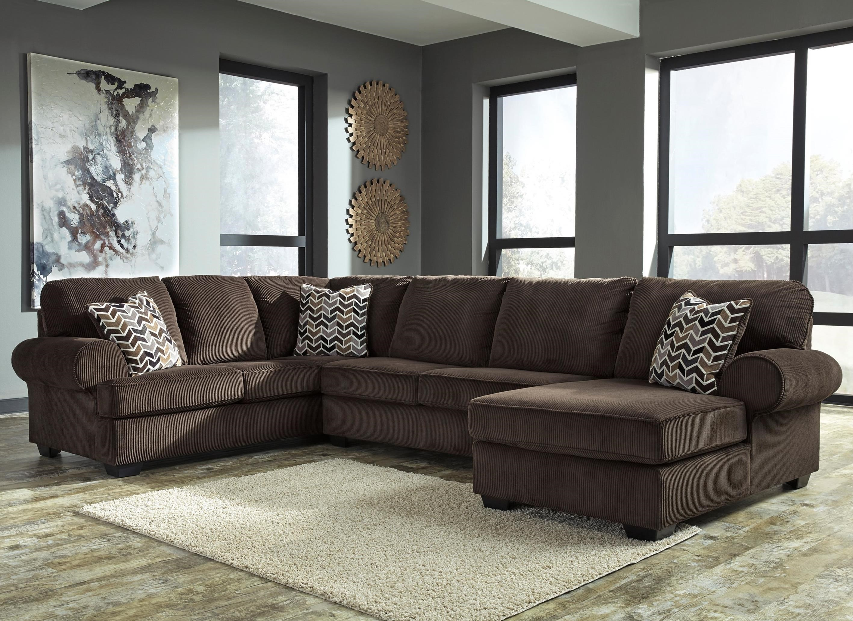 Signature Design By Ashley Jinllingsly3 Piece Sectional With Chaise ...