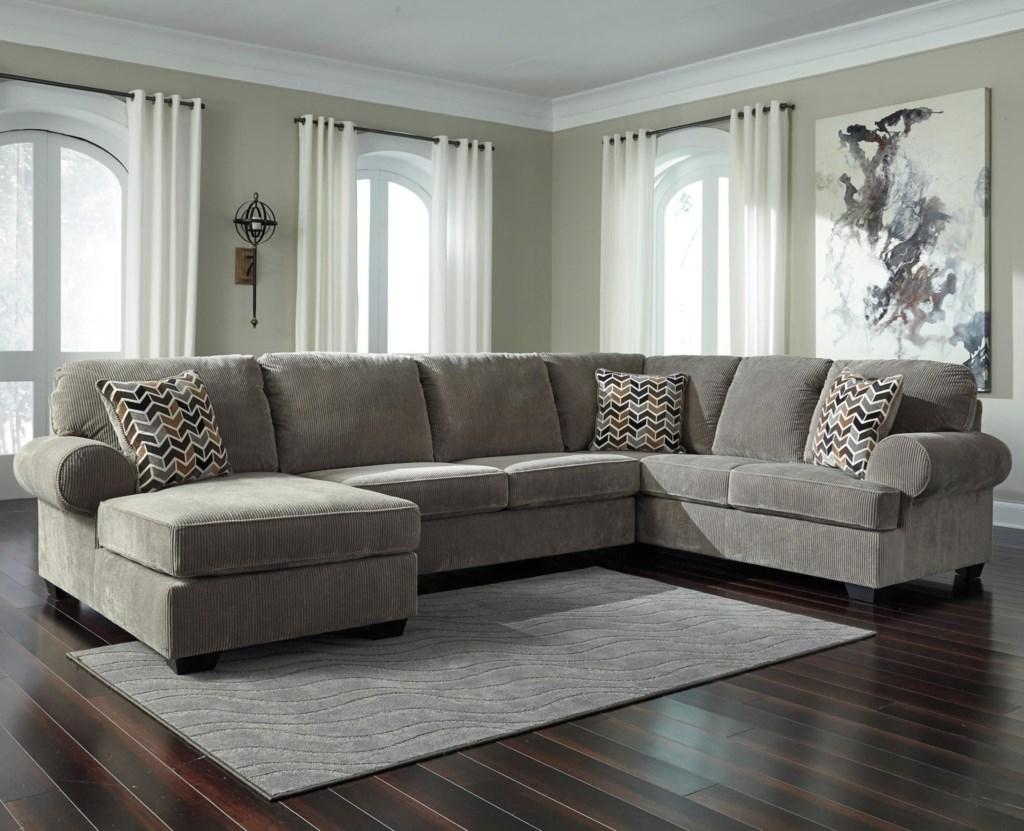 Ashley Signature Design Jinllingsly Contemporary 3 Piece Sectional