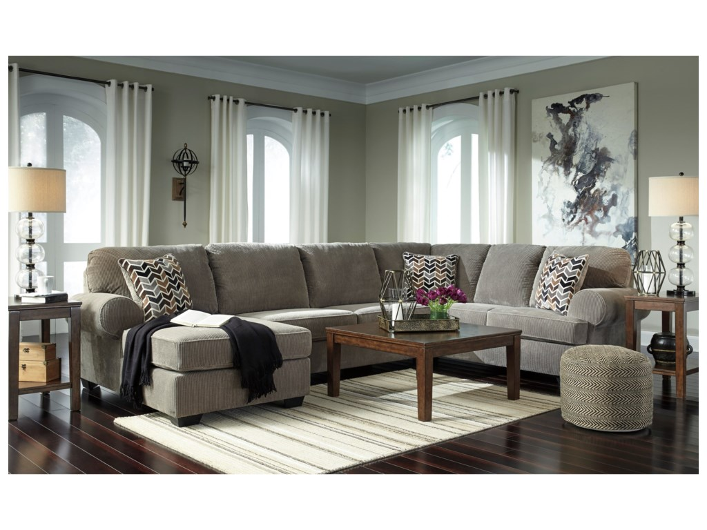 Signature Jinllingsly3-Piece Sectional with Chaise