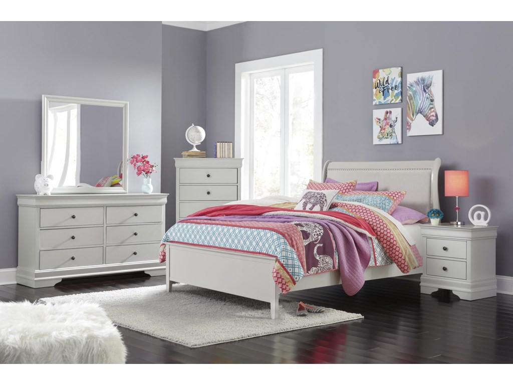 Signature Design by Ashley JorstadFull UPH Sleugh Bed Package