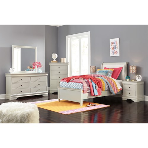 Signature Design by Ashley Jorstad Twin Bed Room Group