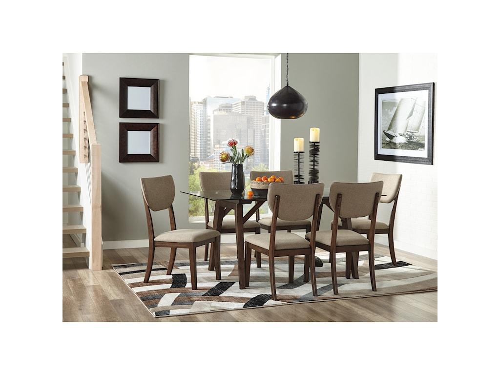 Signature Design by Ashley Joshton7 Piece Rectangular Table Set