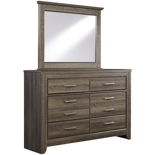 Signature Design by Ashley Juararo 6-Drawer Youth Dresser & Mirror