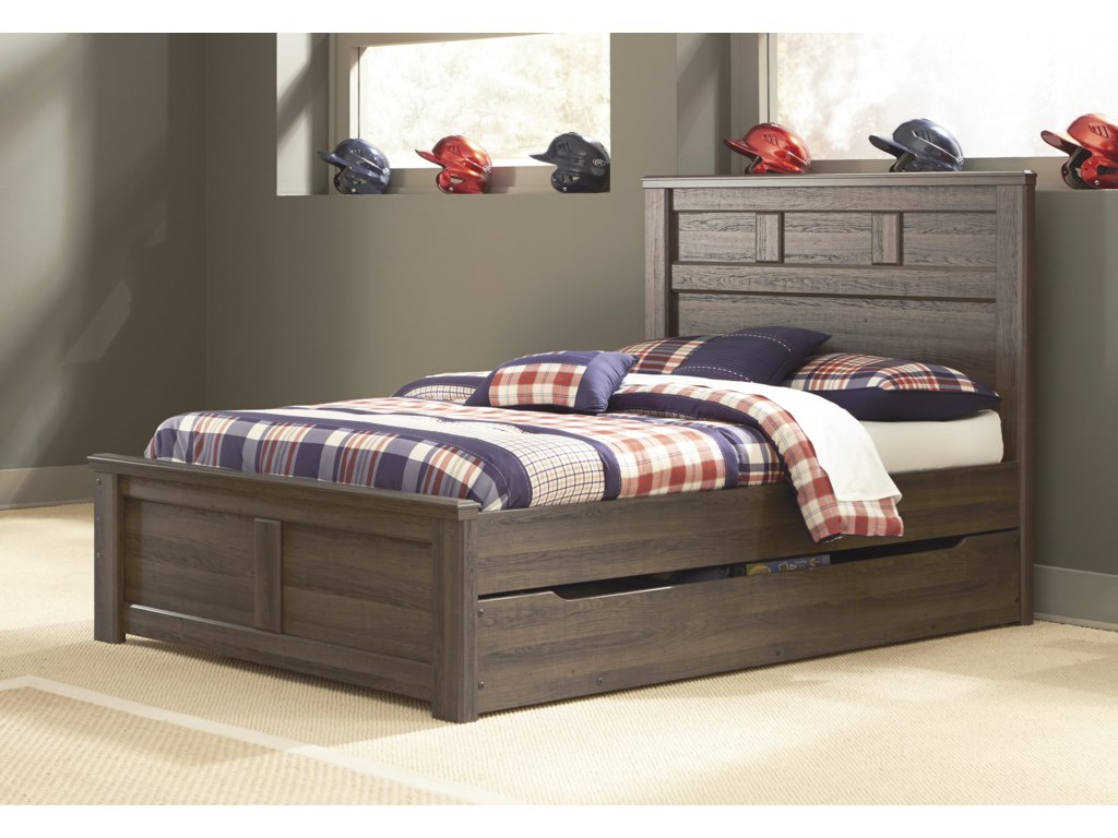 Signature Design by Ashley JuararoTwin Panel Bed w/ Under Bed Storage