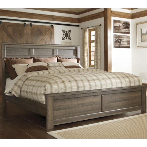 Signature Design by Ashley Juararo Transitional King Panel Bed