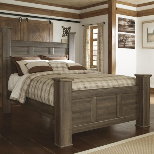 Signature Design by Ashley Sawyer Transitional Queen Poster Bed