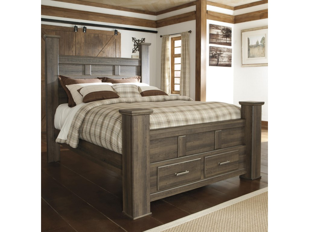 Signature Design by Ashley JuararoQueen Poster Storage Bed