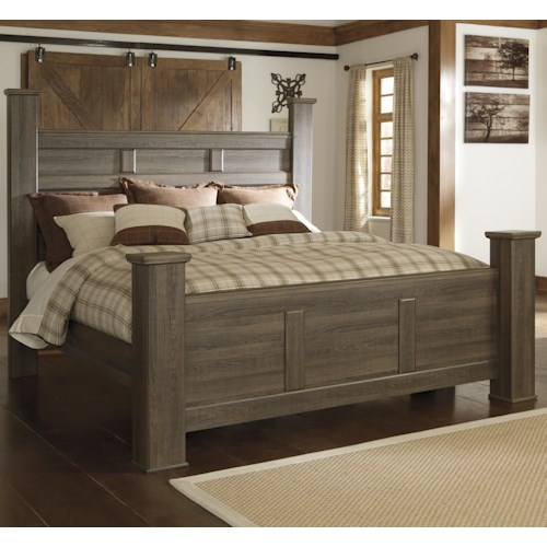 Signature Design by Ashley Juararo Transitional California King Poster Bed