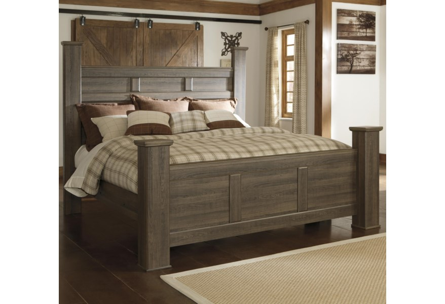 Signature Design By Ashley Juararo California King Poster Bed Homeworld Furniture Poster Beds