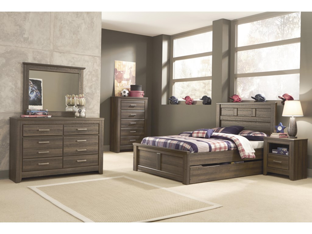 Signature Design by Ashley JuararoFull Panel Bed w/ Under Bed Storage