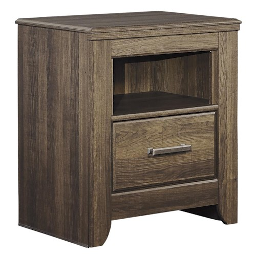 Signature Design by Ashley Juararo One Drawer Night Stand with Shelf