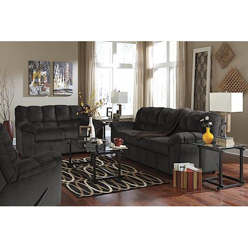 Signature Design by Ashley Julson - Ebony Stationary Living Room Group