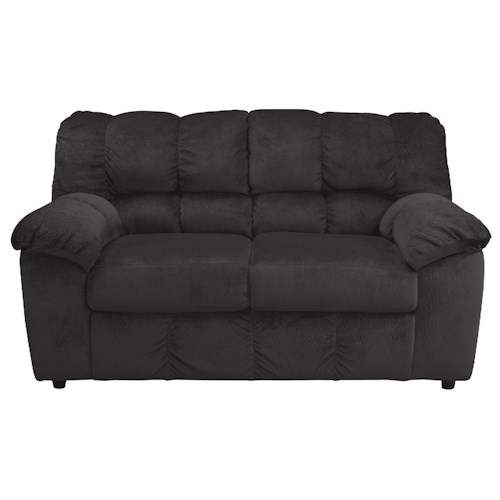 Signature Design by Ashley Julson - Ebony Casual Contemporary Loveseat