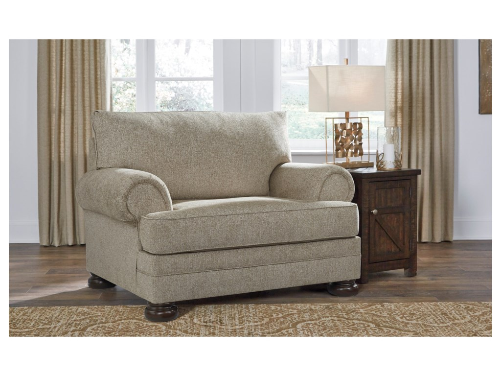 Signature Design by Ashley KananwoodChair and a Half and Ottoman