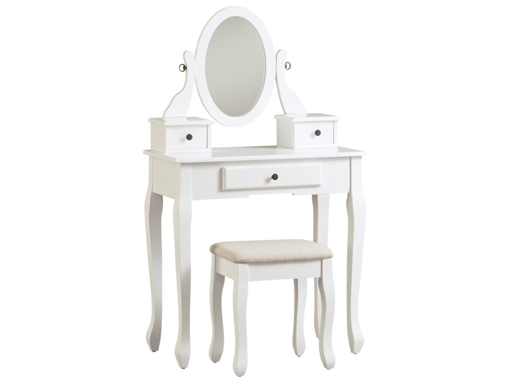 Signature Design by Ashley KaslynVanity with Mirror and Stool