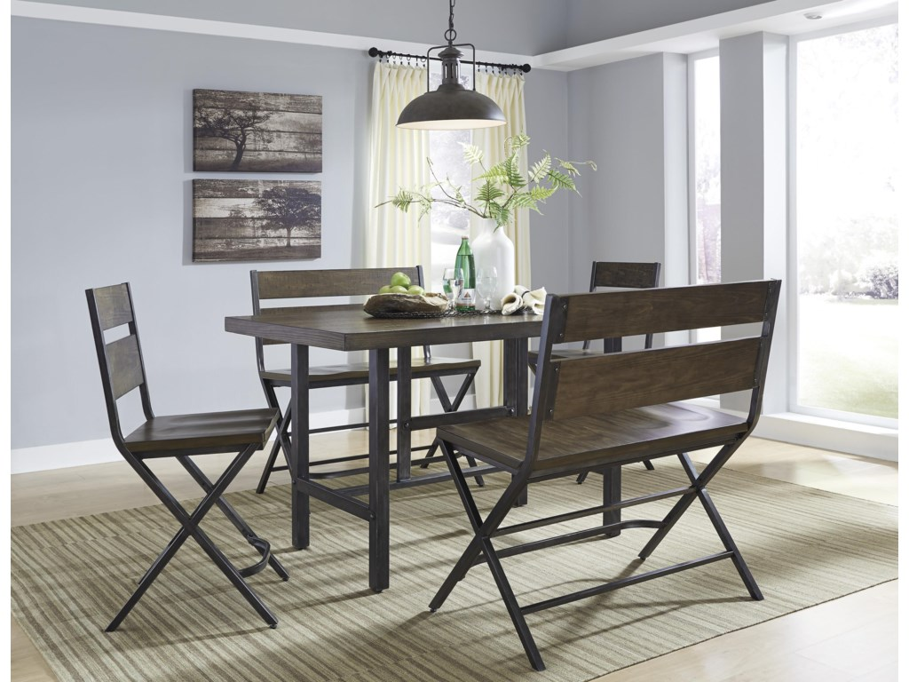 Signature Design by Ashley Kavara5-Piece Counter Table & Double Bar Stool Set